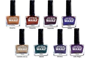 """Esmaltes da coleção """"Star Wars"""": oito opções de cores."""