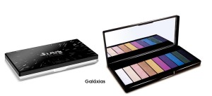 A paleta de sombra da coleção, que conta com 10 cores